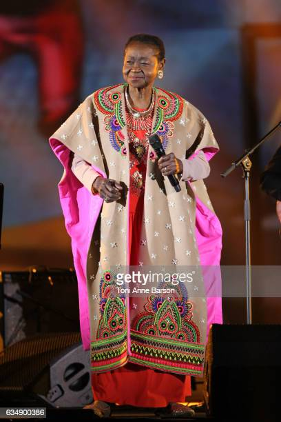 Calypso Rose performs during the '32nd Victoires de la Musique 2017' at Le Zenith on February 10 2017 in Paris France