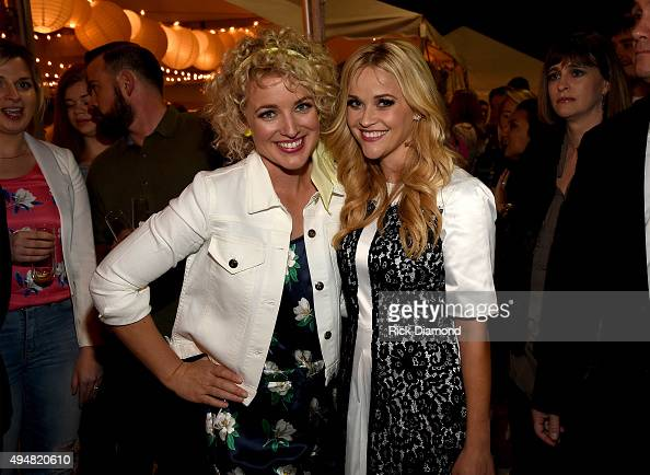 Cam and Reese Witherspoon attend the Draper James Nashville store opening on October 28 2015 in Nashville Tennessee