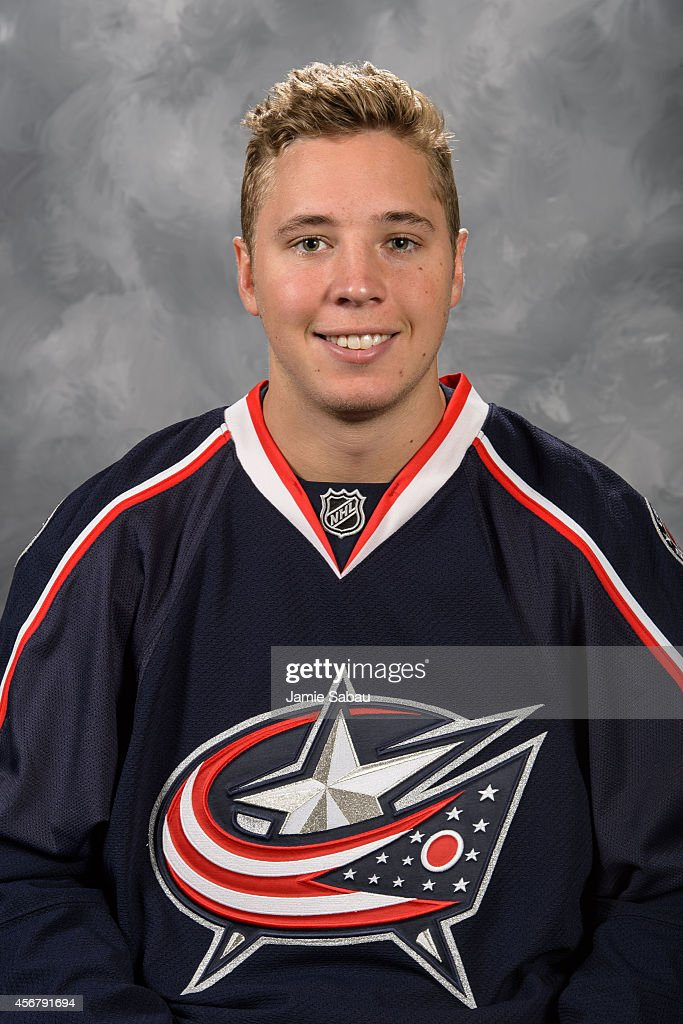 Cam Atkinson of the Columbus Blue Jackets poses for his official headshot for the 20142015 season on September 18 2014 at the Nationwide Arena in...