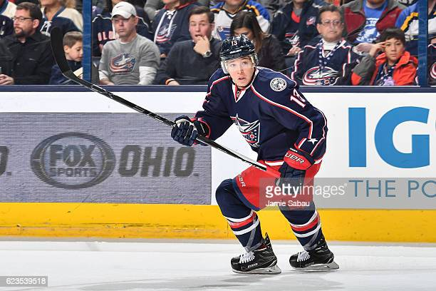 Cam Atkinson of the Columbus Blue Jackets skates against the St Louis Blues on November 12 2016 at Nationwide Arena in Columbus Ohio Columbus...