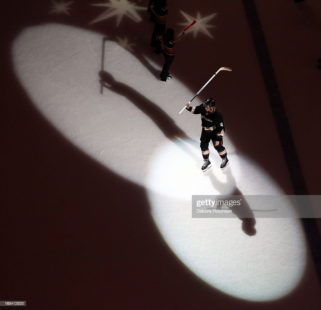 <a gi-track='captionPersonalityLinkClicked' href=/galleries/search?phrase=Cam+Fowler&family=editorial&specificpeople=5484080 ng-click='$event.stopPropagation()'>Cam Fowler</a> #4 of the Anaheim Ducks acknowledges the crowd after the Ducks' 5-2 win over the Dallas Stars on April 3, 2013 at Honda Center in Anaheim, California.