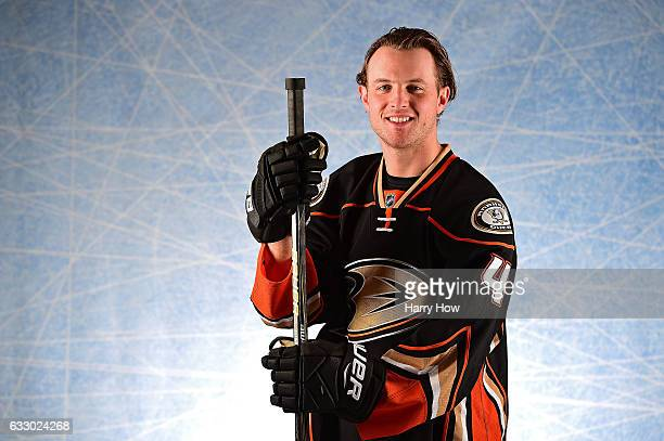 Cam Fowler of the Anaheim Ducks poses for a portrait prior to the 2017 Honda NHL AllStar Game at Staples Center on January 29 2017 in Los Angeles...