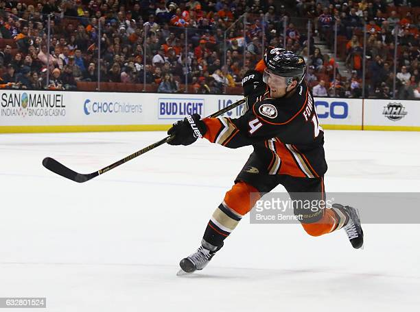 Cam Fowler of the Anaheim Ducks skates against the Edmonton Oilers at the Honda Center on January 25 2017 in Anaheim California The Oilers shutout...