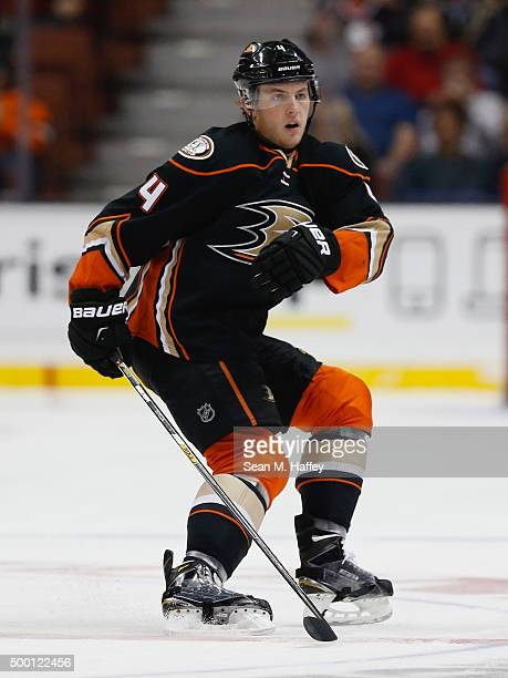 Cam Fowler of the Anaheim Ducks skates during a game against the Vancouver Canucks at Honda Center on November 30 2015 in Anaheim California