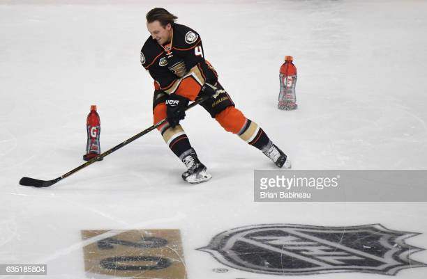Cam Fowler of the Anaheim Ducks skates during the Gatorade Skills Challenge Relay as part of the 2017 Coors Light NHL AllStar Skills Competition at...