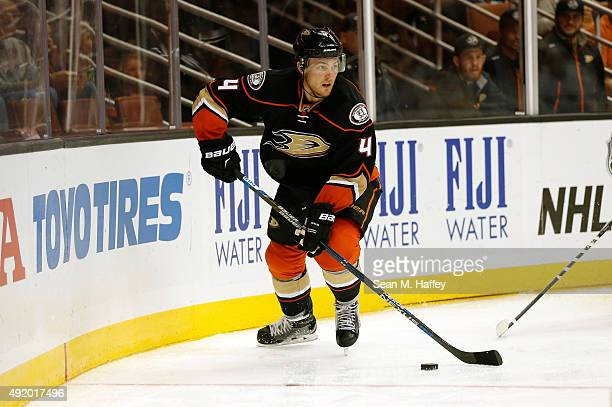 Cam Fowler of the Anaheim Ducks skates in the first period of a pre season game against San Jose Sharks at Honda Center on October 3 2015 in Anaheim...