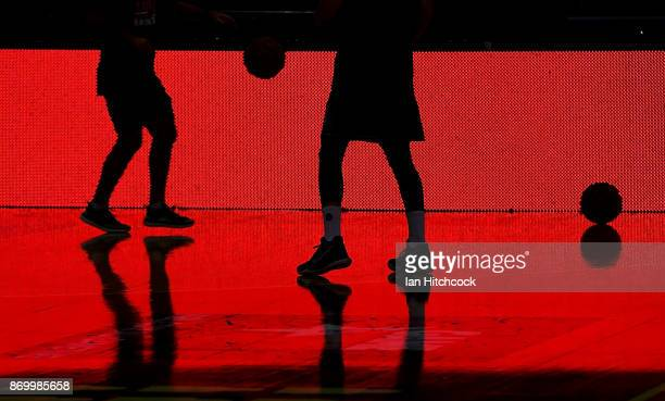 Cam Gliddon of the Taipans warms up before the start of the round five NBL match between the Cairns Taipans and the New Zealand Breakers at Cairns...