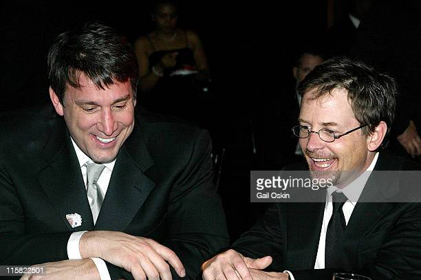 Cam Neely left and Michael J Fox right at The Cam Neely Foundation for Cancer Care The Leary Firefighters Foundation and The Michael J Fox Foundation...