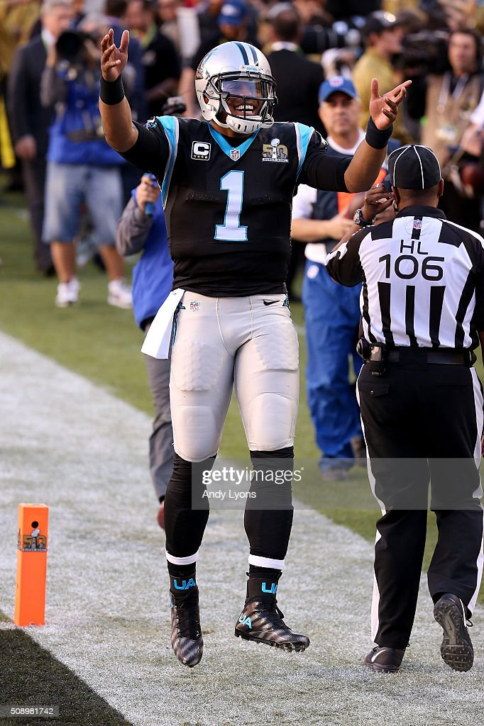 Cam Newton #1 of the Carolina Panthers stands on the field prior to Super Bowl 50 against the Denver Broncos at Levi's Stadium on February 7, 2016 in Santa Clara, California.