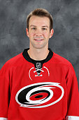 Cam Ward of the Carolina Hurricanes poses for his official headshot for the 20142015 season at Carolina Family Practice on September 18 2014 in...