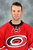 Cam Ward of the Carolina Hurricanes poses for his official headshot for the 20152016 season on September 17 2015 at Carolina Family Practice in...