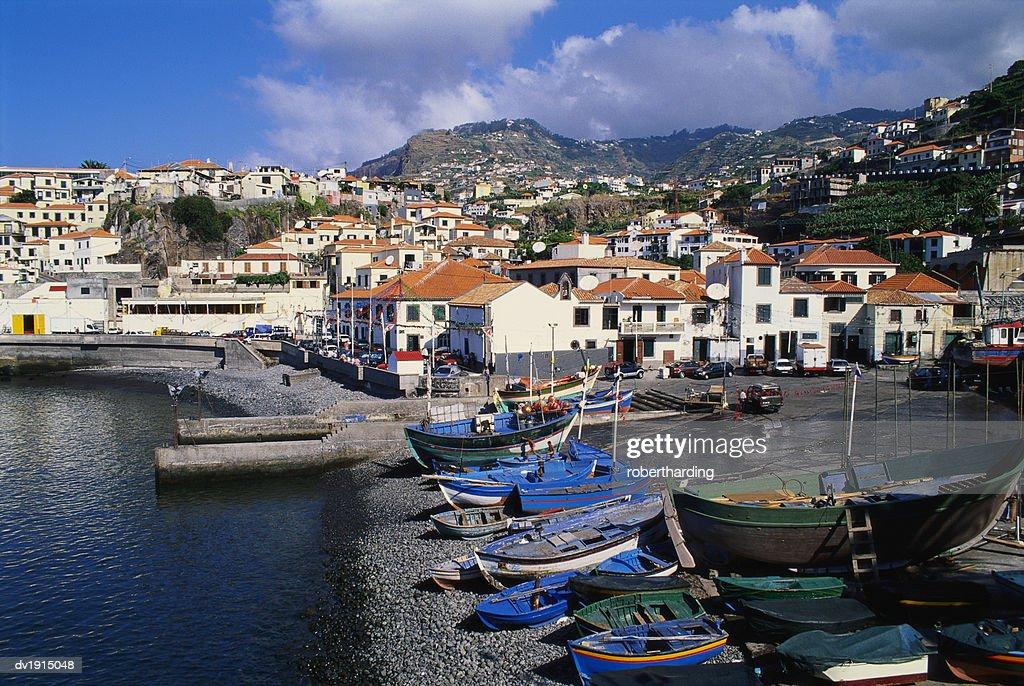 Camara de Lobos Harbour, Madeira, Portugal : Stock Photo