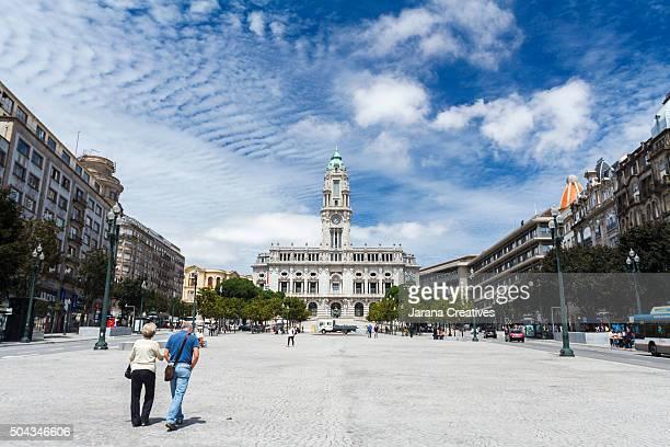 Camara Municipal de Porto and Praça da Liberdade. Porto (Oporto), Portugal
