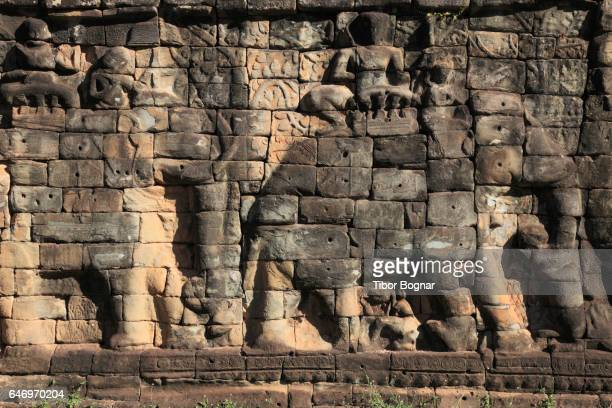 Cambodia, Angkor, Angkor Thom, Terrace of Elephants,