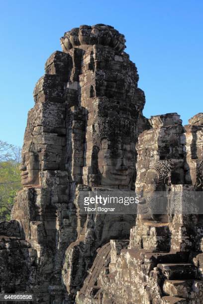 Cambodia, Angkor, Angkor Thom, The Bayon, Avalokiteshvara faces,