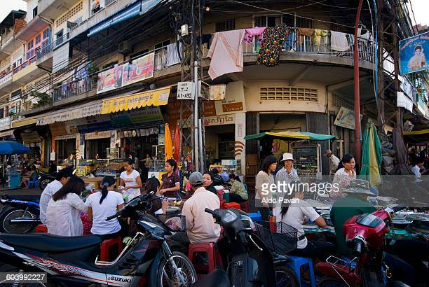 Cambodia, Phnom Penh, street scene