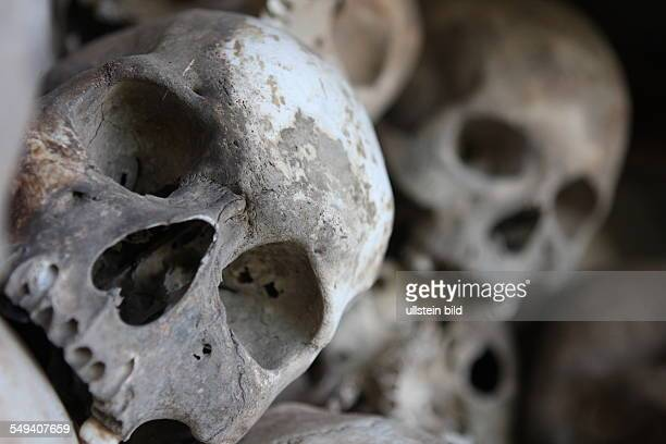 Killing fields of the village Choeung Ek 17000 people died here It remembers of the crime of the Khmer Rouge