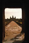 Cambodia, Siem Reap, Angkor Wat, entrance to Angkor temple