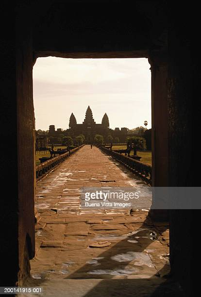 Cambodia, Siem Reap, Angkor Wat, entrance to Angkor temple