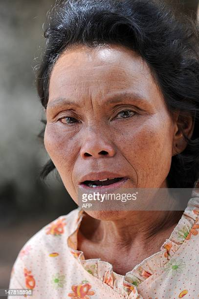 CambodiaagriculturesugareconomytradeFOCUS by Suy Se This photo taken on May 17 2012 shows Cambodian Yi Chhav a 68yearold widow speaking during an...