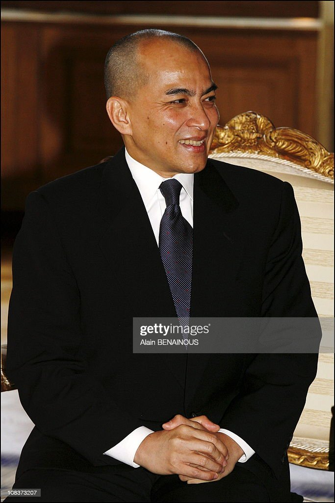 Cambodian king Norodom Sihamoni in Paris, France on November 21, 2006.