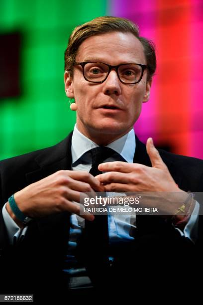 Cambridge Analytica's chief executive officer Alexander Nix gives an interview during the 2017 Web Summit in Lisbon on November 9 2017 Europe's...