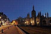 Cambridge at night, Cambridgeshire, England, UK