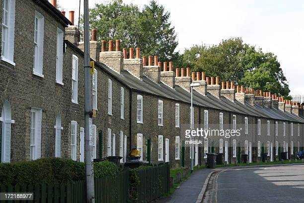 Cambridge England terrace private housing street scene