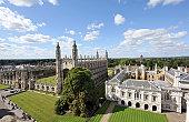 A view of Cambridge University (King's College), Cambridgeshire, England.