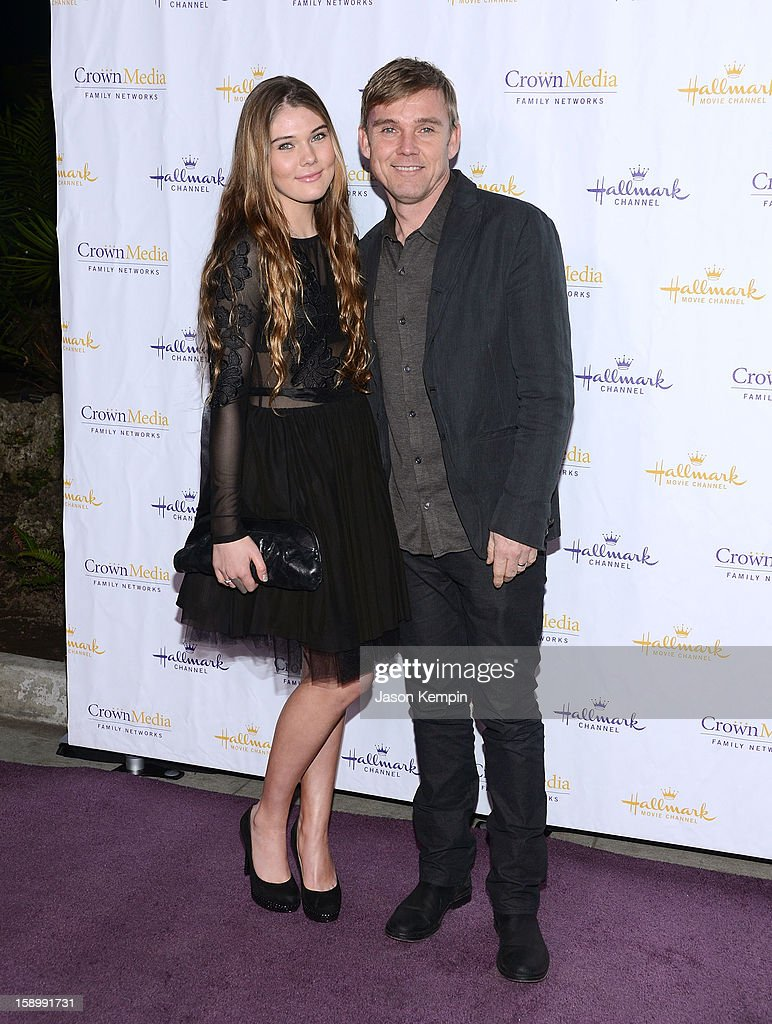 Cambrie Schroder and Ricky Schroder attend the Hallmark Channel and Hallmark Movie Channel's '2013 Winter TCA' Press Gala at The Huntington Library and Gardens on January 4, 2013 in San Marino, California.