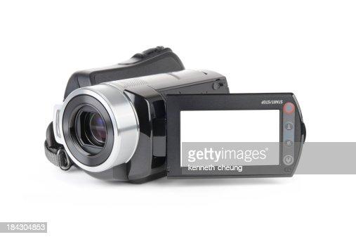 Camcorder on White Background