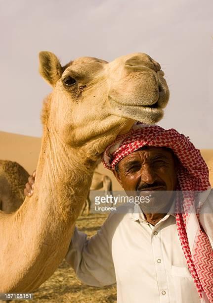 Camel und arabische Mann