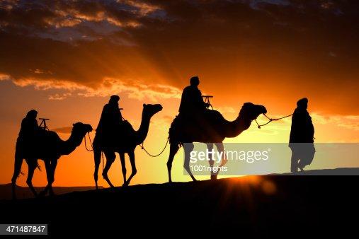 Camel caravan in Morocco