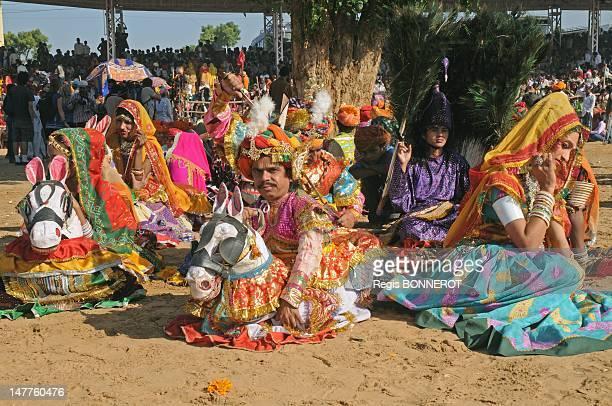 Camel fair in Rajasthan last procession for the end of the fair on November 21 2010 in Pushkar Rajastahn India