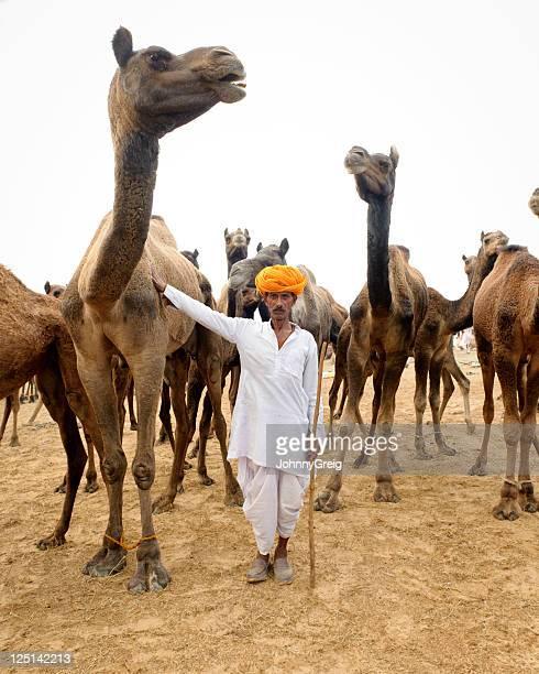 Gardien de chameaux à Pushkar foire Rajasthan
