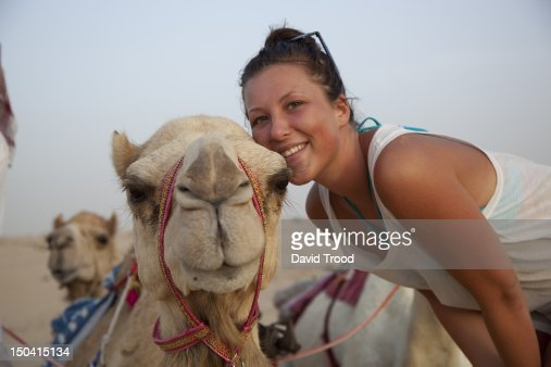 camel safari in Dubai : Foto de stock