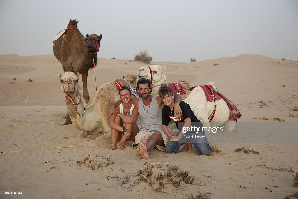 camel safari in Dubai : Stock Photo