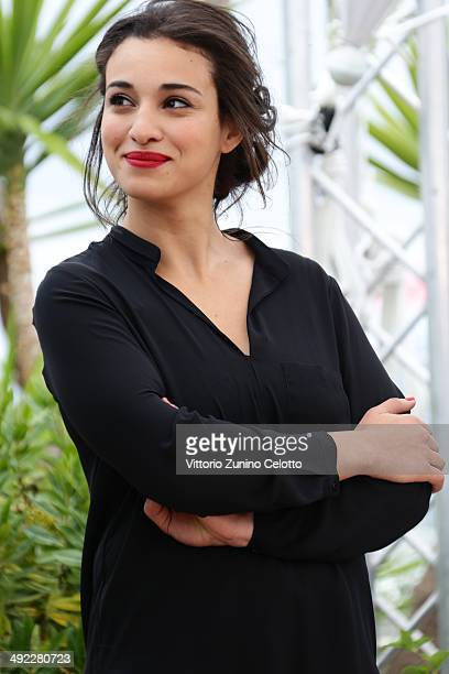 Camelia Jordana attends the 'Bird People' premiere during the 67th Annual Cannes Film Festival on May 19 2014 in Cannes France
