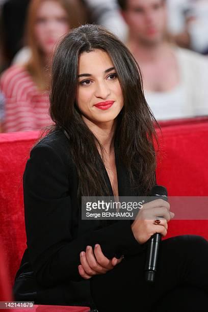 Camelia Jordana attends Vivement Dimanche Tv show on September 21 2011 in Paris France