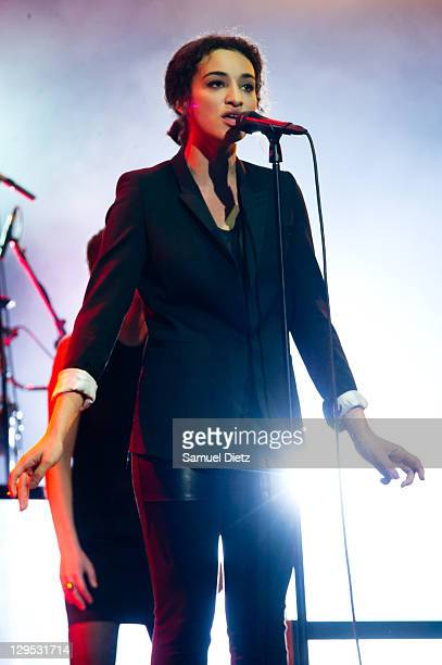 Camelia Jordana performs during the celebration of Prix Constantin 2011 at L'Olympia on October 17 2011 in Paris France