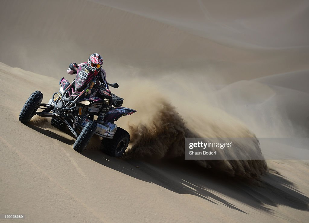 Camelia Liparoti of team Wild Wolf CAT competes in stage 6 from Arica to Calama during the 2013 Dakar Rally on January 10, 2013 in Arica, Chile.