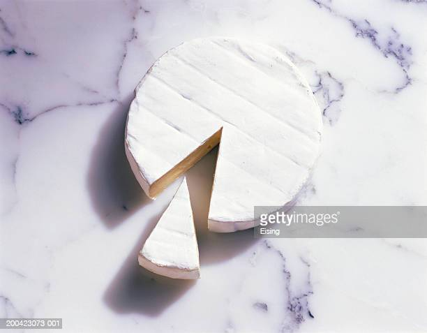 Camembert with a piece cut out