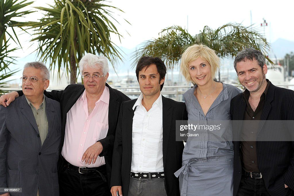 Camera d'Or Jury Members Gerard De Battista,Jury President Gael Garcia Bernal with Charlotte Lipinska and Stephane Brize attends the 'Camera d'Or Jury' Photocall at the Palais des Festivals during the 63rd Annual Cannes Film Festival on May 13, 2010 in Cannes, France.