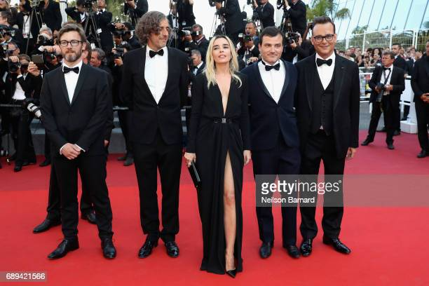 Camera d'Or jury members Patrick Blossie Fabien Gaffez Elodie Bouchez Thibault Cartero and Michel Merkt attend the Closing Ceremony of the 70th...