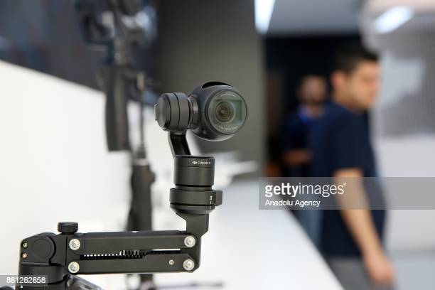 A camera is seen during the opening of DJI's which is the world's biggest Drone producer company 2nd store in Turkey on October 14 2017 in Istanbul...