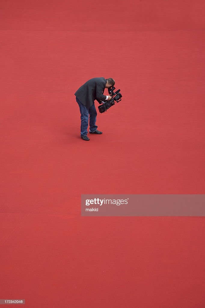 Camera operator on red carpet