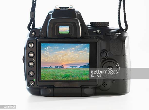 Camera screen with scenic