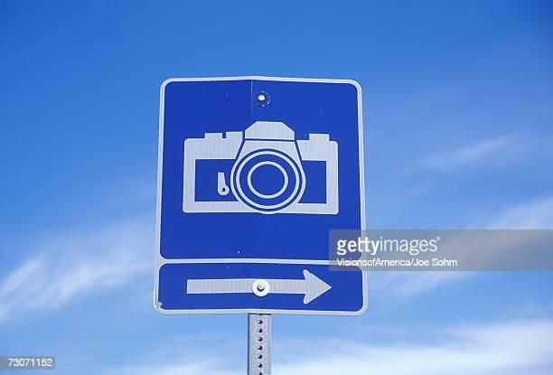 A camera sign