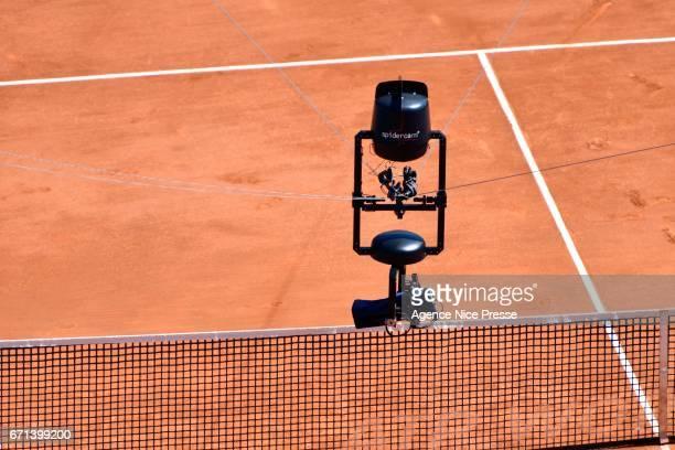 Camera Spidercam during the Monte Carlo Rolex Masters 2017 on April 21 2017 in Monaco Monaco