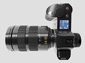 Detailed 3D render of a latest design camera.